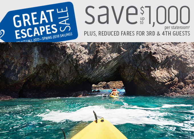 Escape the day-to-day and save up to $1,000
