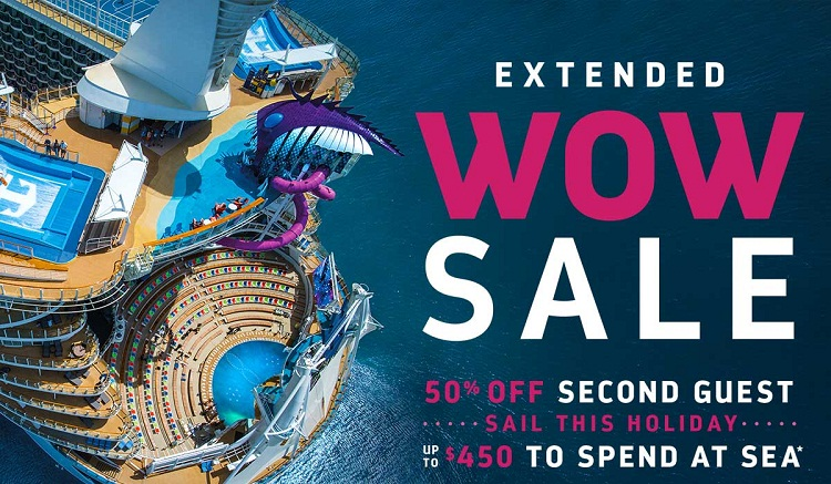 Take your holiday wish list to the tropics with up to $450 to spend at sea