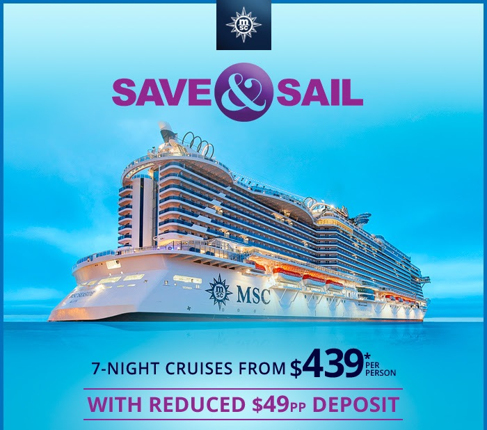 SAVE & SAIL: MSC Seaside fares from $439