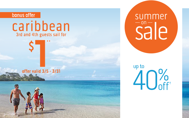 Don't forget about this special offer on Summer Caribbean, just for you ?